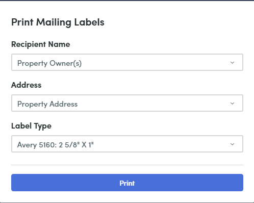 Print mailing labels from Remine – The Smart Desk